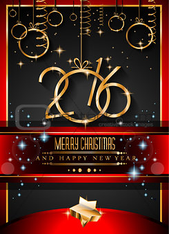 2016 Happy New Year Background for your Christmas invitations