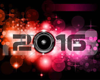 2016 Happy New Year Background for your Club Parties