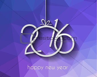 2016 Happy New Year Background for your Christmas