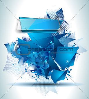 Abstract Background with Shapes Explosion For Cover,