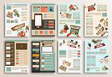 Set of Flyer Design, Web Templates. Brochure Designs