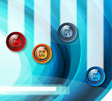 Infographic Abstract template with multiple choices glass buttons