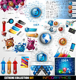 Infographic Mega Collection: Glossy Button icons and more