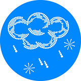 rain and snow weather icon
