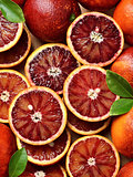 Blood red oranges