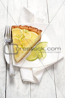 Citrus cheesecake slice