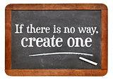Motivational phrase on blackboard
