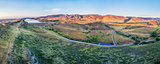 aerial panorama of foothills at Fort Collins