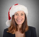 Xmas smiling businesswoman