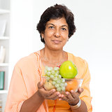 Indian mature woman healthy lifestyle