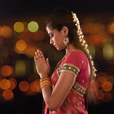 Indian female prayer