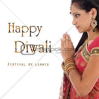 Celebrating Diwali festival