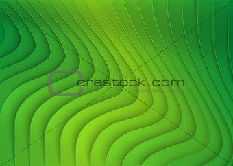Green Striped 3D Texture