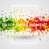 Motivation bright Paint Splashes vector Watercolor Poster. Background