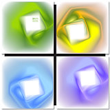 Set of abstract colorful square backgrounds