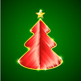 Greeting card with creative christmas tree