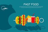 Fast food concept banner