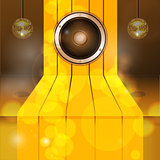 3D Golden step with speaker and disco balls