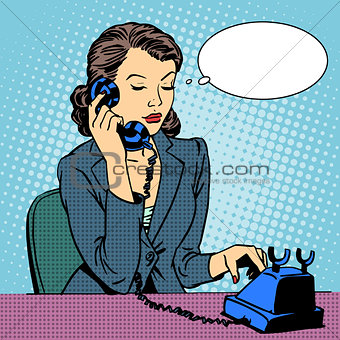 Business woman talking phone