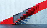 red stairs leading upward