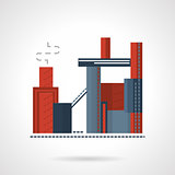 Concrete plant flat vector icon