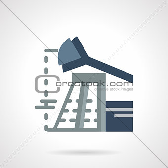 Flat vector icon for oil industry