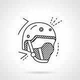 Skaters helmet line vector icon