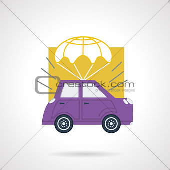 Car delivery flat vector icon