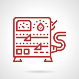 Power supply equipment line vector icon