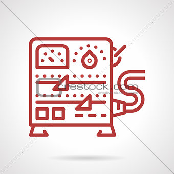 Power supply equipment line vector icon