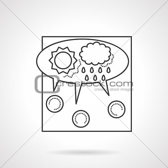 Crowdsourcing line vector icon