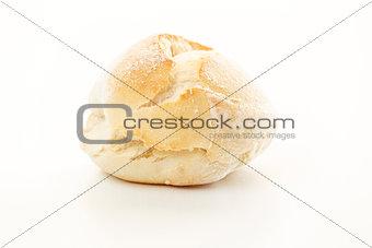 Fresh Bread Over White