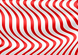 Red White Striped 3D Texture