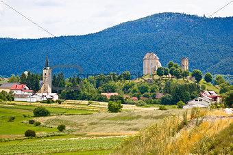 Brinje village in nature of Lika