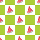Seamless natural color pattern of  watermelon