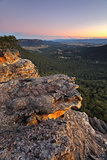 Sunset over Megalong Valley Blue Mountains