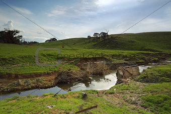 Old bridge at Millomolong Limestone Creek
