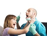 Angry patient by dentist