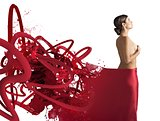 Seductive red veil