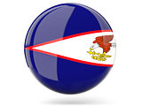 Round icon with flag of american samoa
