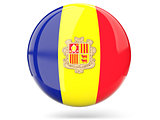 Round icon with flag of andorra
