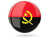 Round icon with flag of angola