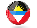 Round icon with flag of antigua and barbuda