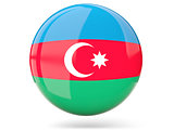 Round icon with flag of azerbaijan