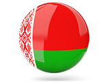 Round icon with flag of belarus