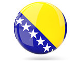 Round icon with flag of bosnia and herzegovina
