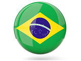 Round icon with flag of brazil