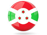 Round icon with flag of burundi