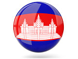 Round icon with flag of cambodia