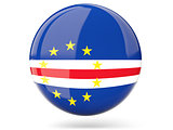 Round icon with flag of cape verde